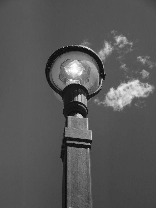 light pole light sky