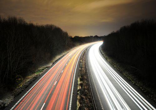 light trail long exposure night