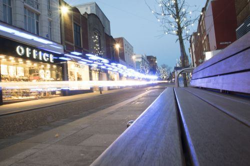 light trails street photography outside