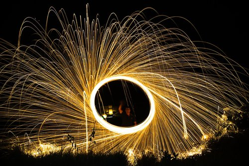 light trails  night  long exposure