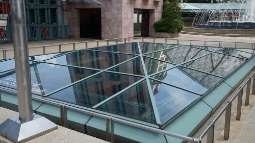 light wells skylights glass top