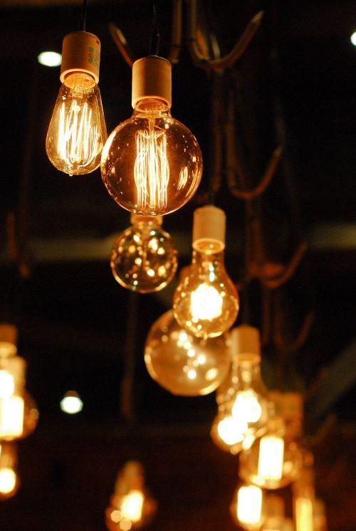 lightbulb lighting night