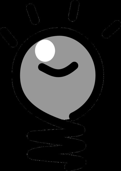 lightbulb idea gray