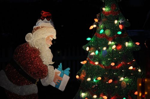 Lighted Santa Claus Decoration