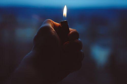 lighter hand fire