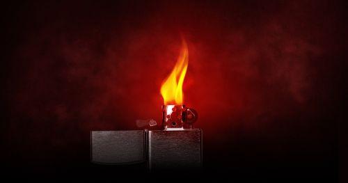 lighter flame burn