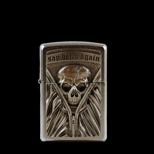 lighter petrol lighter skull and crossbones