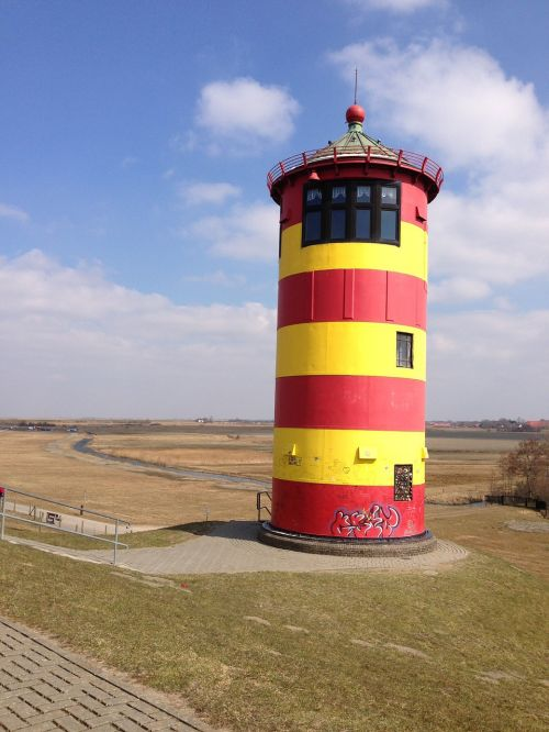 lighthouse sky friesland