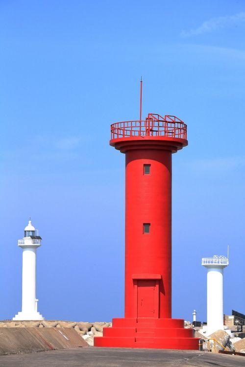 lighthouse jeju island landscape