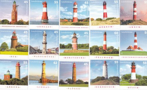 postage stamps lighthouse collect