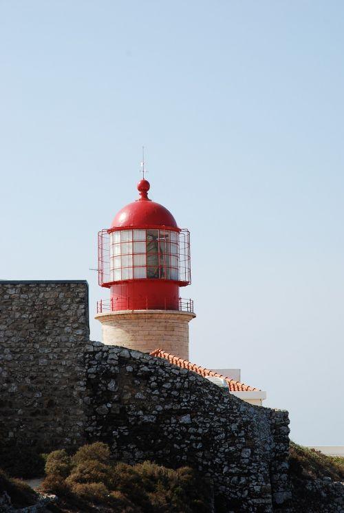 lighthouse algarve sky