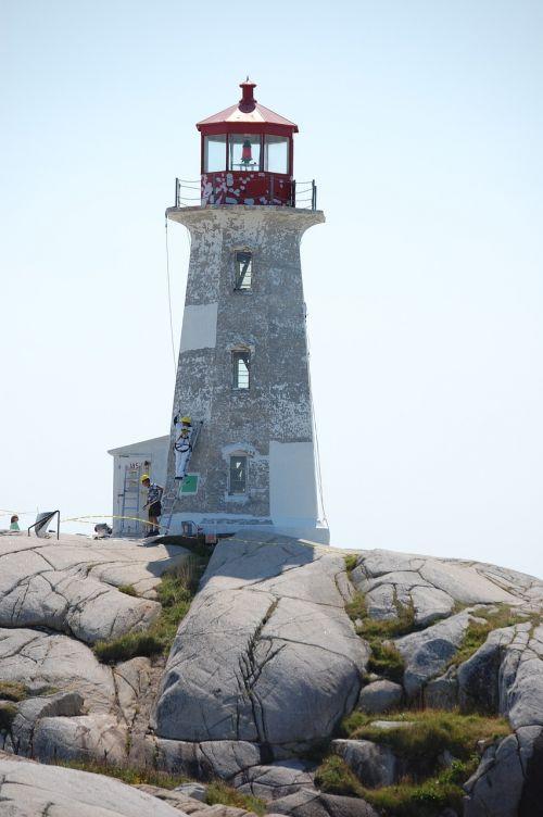 lighthouse peggy's cove nova scotia canada