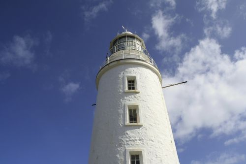 lighthouse sky blue