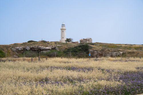 lighthouse cyprus sky