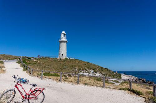 švyturys,Bathurst point,Bathurst,Bathurst švyturys,rottnest sala,rottnest,Wadjemup,australia,Vakarų Australija,wa,Vakarų Australija,jūra,vandenynas,sala,dviratis,motociklas,tvora