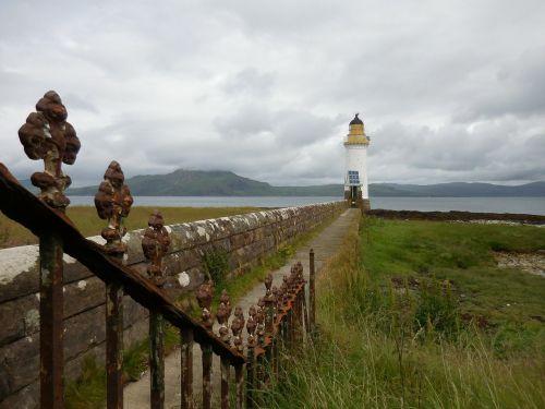 lighthouse scotland meadow