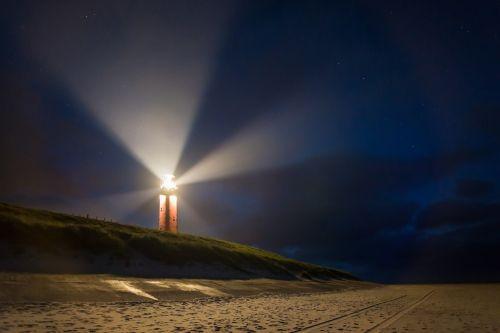 lighthouse night beacon