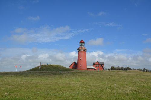 lighthouse north sea denmark