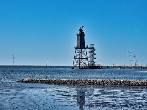 lighthouse  north sea  watts