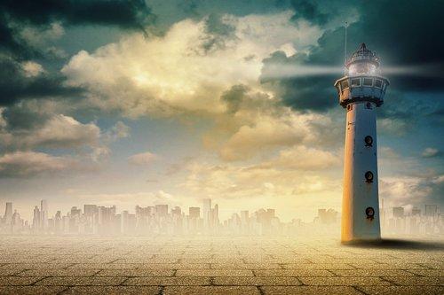 lighthouse  surreal  art