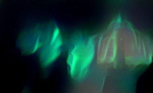 lighthouse  northern lights  beauty