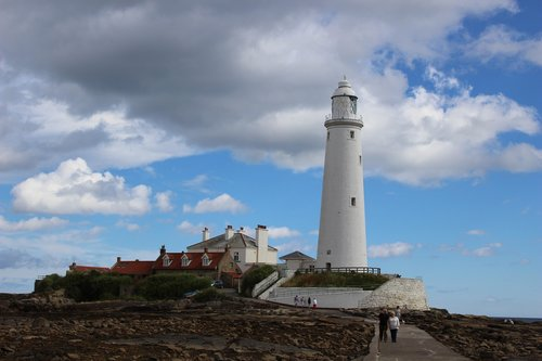lighthouse  st mary  whitley bay