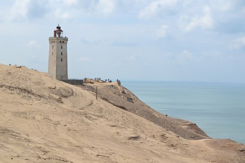 lighthouse  denmark  dune