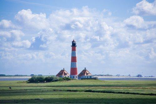 lighthouse  north sea  north