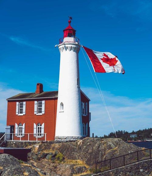 lighthouse  canada  flag
