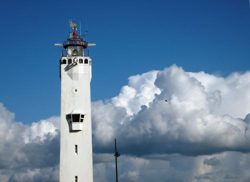 lighthouse air clouds
