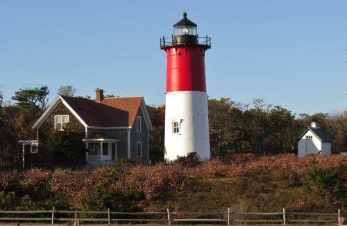 lighthouse red ocean