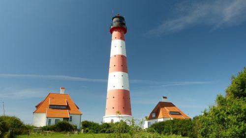 lighthouse westerhever north sea