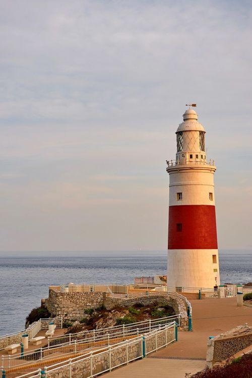 lighthouse evening light evening sun
