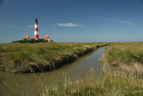 lighthouse north sea westerhever