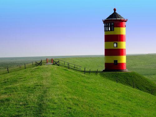 lighthouse pilsum east frisia