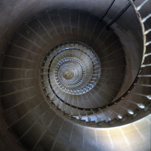 lighthouse stairs circular steps