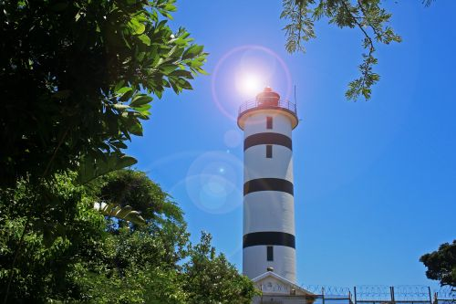 Lighthouse With Lens Flare