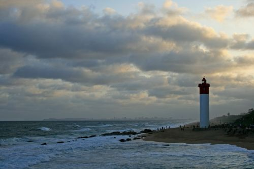 Lighthouse With Tinted Clouds