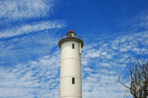 Lighthouse With White Cloud