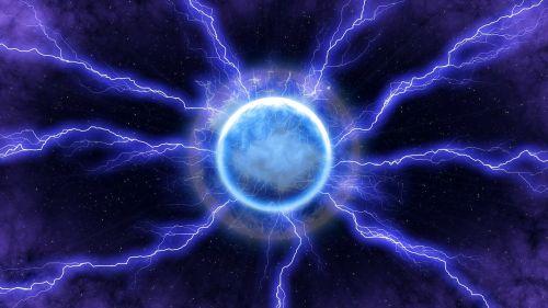 lightning energy blue