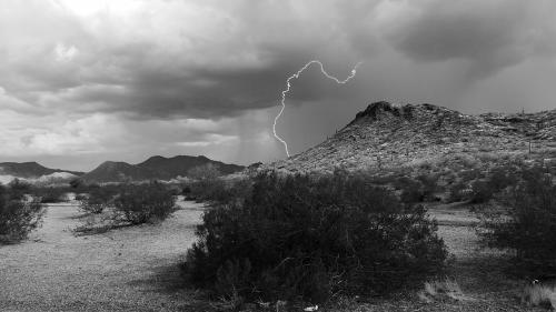 lightning storm desert