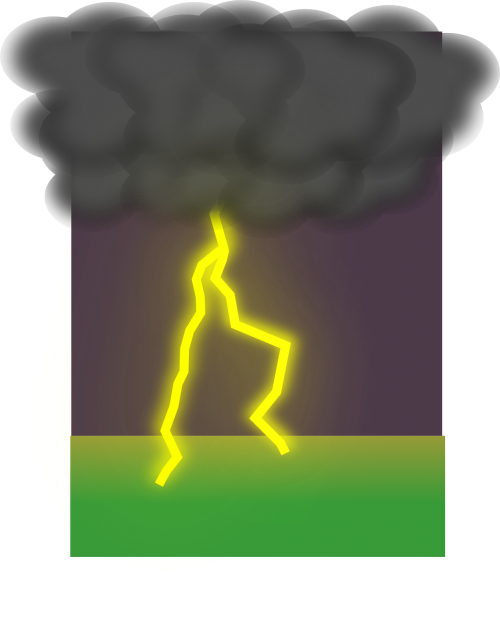 lightning weather clouds