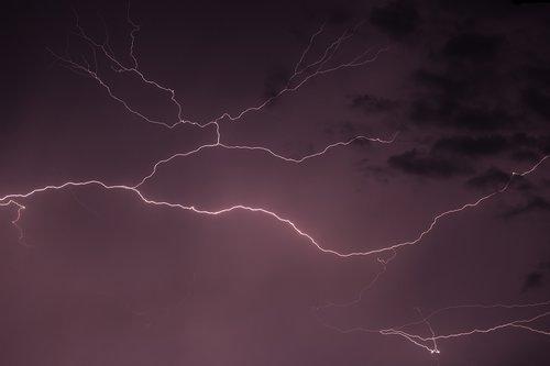 lightning  storm  rain