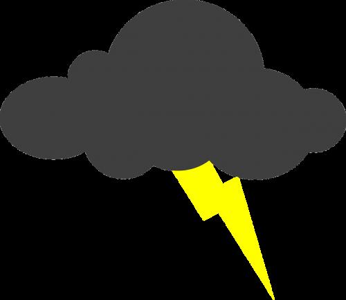 lightning clouds thunderstorm