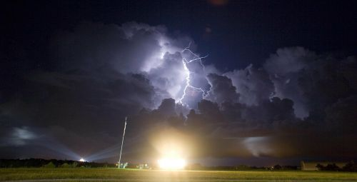 lightning weather rocket