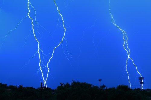 lightning storm  shock  weather