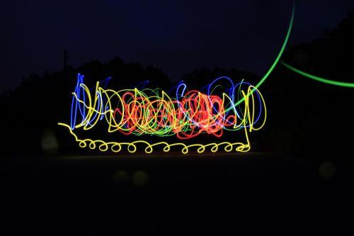 lightpainting shutter speed night