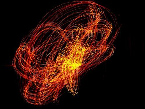 lightpainting long exposure orange