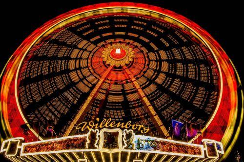 lights hamburger dom ferris wheel