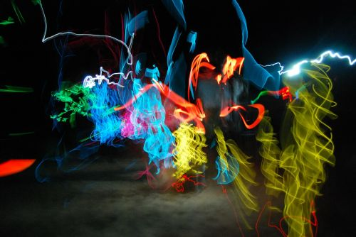 lights dancing night